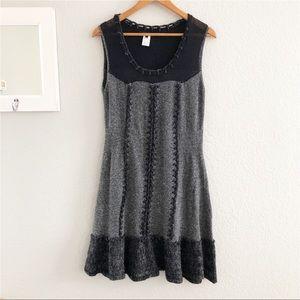 Nanette Lepore Sleeveless Wool Knit Sweater Dress